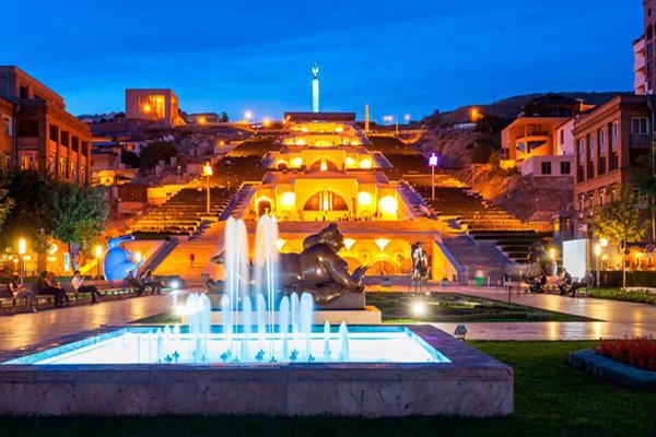 آبشار پله از مکان های گردشگری ارمنستان